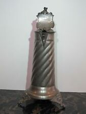 Antique Pewter German Beer Stein Historismus with Shield dated 1676