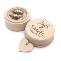 Personalized Ring Bearer Box Ring Holder Rustic Wooden Ring Box Wedding Ring Box