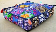 """35"""" Square Patchwork Cushion Pillow Cover Large Floor Ottoman Pouf Covers Throw"""