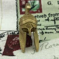 EDC Brass Sparta Folding Knife Bead Umbrella Rope Keychain DIY Tools Pendants
