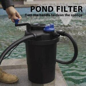 Pressurized Biological Pond Filter w/ 13-w UV Sterilizer Light 2100G ETL LisTed