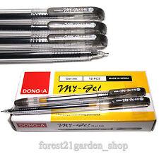 x6 Dong-A My Gel Ink 0.5mm Roller ball Pen - Black 6 Pcs