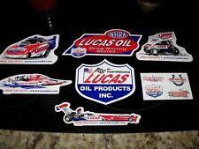 7 - Lucas Oil Racing Stickers / Decals - NHRA - Sprint Car - Lot of 7