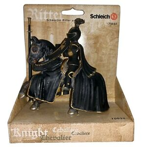 NEW Schleich Tournament KNIGHT & HORSE Medieval Times Collection~BLACK KNIGHT
