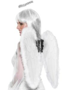 Fairy Angel Wings & Halo White 50x55cm by Smiffys New