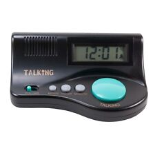 Talking Curve Alarm Clock with Large LCD Display and Clear Female Voice - NEW