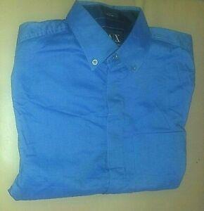 NWT Armani Exchange Mens Oxford Dressy Casual Button Down Shirt Pocket Cotton
