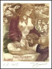 David Bekker 1996 Exlibris C4 Erotic Erotik Nude Nudo Woman Sex 558
