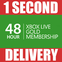 48 Hours - Xbox Live Gold Trial Membership Code Pass (2 Days)- Xbox One/Xbox 360