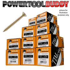 Timco 5.0 x 50mm Solo Zinc & Yellow Chipboard Screws, Trade Outer 3,000 Screws