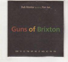 (HE418) Dub Mentor ft Yan Jun, Guns Of Brixton - 2014 DJ CD