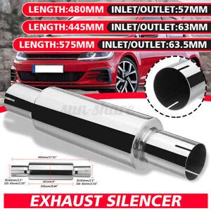 Universal 2.5'' ID 17'' Long Resonator Exhaust Muffler Silencer Stainless Steel