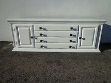 Trunk Media Console Bench Storage Traditional Dresser Boho Chic White Chest