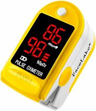 Pulse Oximeter Fingertip CMS50DL / FL400 Blood Oxygen SpO2 Monitor - Yellow