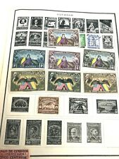 EIGHT MINT HINGED AND THREE USED HINGED 1939 ECUADOR STAMPS