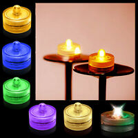 SUBMERSIBLE LED LIGHT TEA LIGHTS BRIGHT PARTY FLORALYTE WATER PROOF DECOR