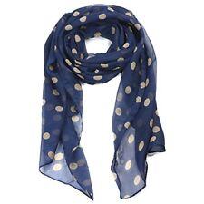 Bleus Écharpes et châles à motif À Pois pour femme, en 100% soie