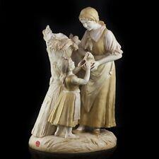 RARE! Antique Royal Vienna Wahliss Figural Ceramic Vase Austria 18'' tall