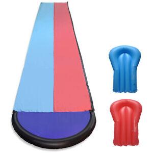 Peak Power 9 m lange XL Wasserrutschbahn inklusive 2 Rutschboards in rot/blau
