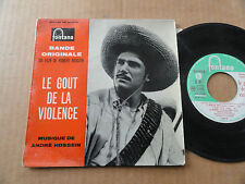 """DISQUE 45T BANDE ORIGINALE DU FILM """" LE GOUT DE LA VIOLENCE """" AVEC LANGUETTE"""