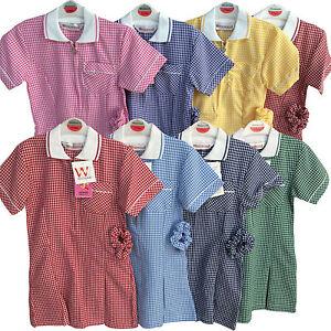WESTWOOD SUMMER DRESS SCHOOL UNIFORM RED GREEN SKY PURPLE BROWN PINK GIRLS KIDS