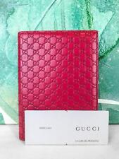 $595 GUCCI Red Micro GG Web Guccissima Leather Notepad Cover Lined Pages SALE!
