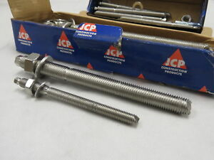M16 x 190mm Chemical Anchor Resin Stud Stainless Steel A4-316 per Box of 10