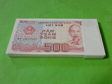 Vietnam 500 Dong 100pcs consecutive serial number (UNC) 全新500越南盾 100张连号