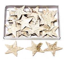 30 ST betulla-star NATURA 6cm, STELLINE sfuse, betulla