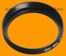 43 mm A 46mm 43-46 Stepping intensificar filtro anillo adaptador 43-46mm 43mm-46mm