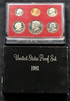 USA 1981 Proof Set San Francisco Original Box PP polierte Platte 1c-1$