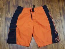 *Men's Jagermeister Liquor Board Shorts/Swim Trunks Size Medium 34 Orange Black