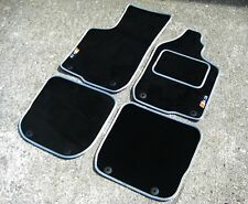 Car Mats in Black/Silver SUPER VELOUR to fit Audi S3 8L (1999-2003) + S3 Logos