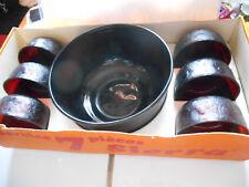 arcoroc sierra saladier & coupelle vintage 70's  salad bowl & cup old ancien