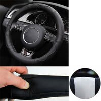Hand-stitched Cowhide Genuine Leather Car Steering Wheel Cover wear-resistant