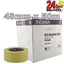 """Indasa 48mm Low Bake Masking Tape 2"""" Box of 20 Rolls"""