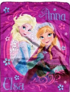Disney Throw Blanket Frozen Anna Elsa Sofia the First Silky Touch New