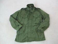 VINTAGE Army Jacket Adult Small Green OG-107 Safari Field Coat Hood Mens *