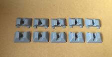 10 x Genuine Unwin PISTA FERROVIA CALOTTE PLASTICA van minibus grigio COACH