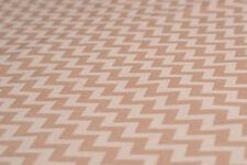 Bio-Baumwolle, Zickzack-Muster, Beige-Braun - 8 Euro/m