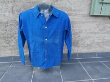 Veste de travail bleu ancienne coton taille 50 / XL atelier usine années 70