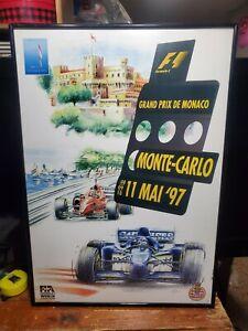 F1 Grand Prix De Monaco Monte Carlo 11 MAI 1997 Framed Poster/Print
