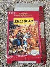 Hillsfar Advanced Dungeons & Dragons AD&D Hills Far NES Nintendo Empty Box Only