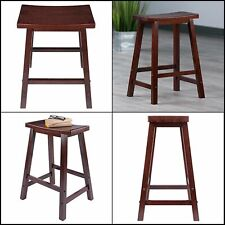 Wide Saddle Bar Seat 24in Kitchen Counter Stool Dining Room Wood Furniture New