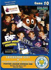 Football Programme>LEICESTER CITY RESERVES v WOLVES RESERVES Mar 1997