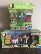 MINECRAFT OVERWORLD SERIES 2 SADDLE PACK AND SERIES 1 SURVIVAL PACK - BRAND NEW!