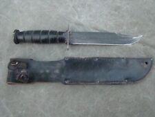USMC Ontario Fighting Knife MIL-K-20277 includes leather sheath - Very Good