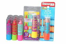 15 x Rimmel Keep Calm Lip Balm | RRP £44.85 | 5 types | Job Lot