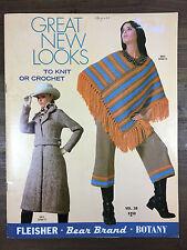 1970 Vintage Retro Mod Knitting Crochet Pattern Book Cape Tunic Dress