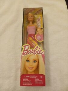 Barbie RING FOR YOU BARBIE Doll Pink Stripe Dress Pink Ring 2014 Mattel
